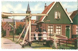 Holland, Netherlands, Volendam, 1972 used Postcard