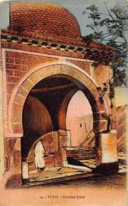 Tunisia Fontaine Arabe Fountain Postcard