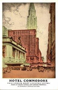 New York City Hotel Commodore 1953