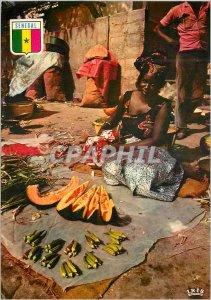 Modern Postcard Senegal Dakar walk Scene