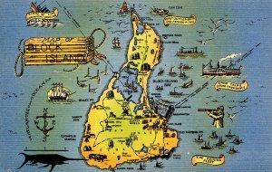 RI - Block Island. Map