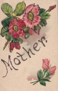 Name Card Mother With Beuatiful Flowers Curteich