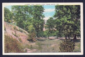 Lovers Lane Deming Park Terre Haute IN used c1935