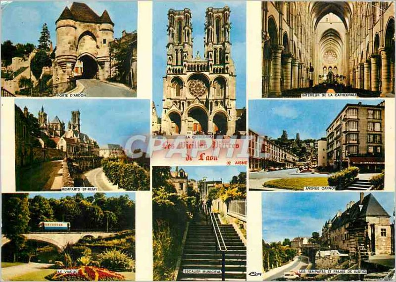 Modern Postcard The old stones of Laon Aisne