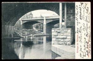 dc1497 - OTTAWA Ontario Postcard 1904 Bridge