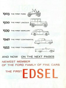 1957 Ford Edsel Automobile Car Vintage Print Ad 3 Pages Introducing First Edsel
