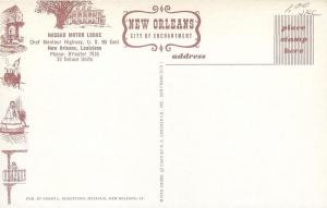 New Orleans Louisiana~Nassau Motor Lodge~Art Deco~1940-50 Cars Postcard
