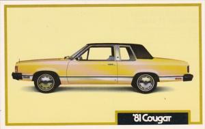 Advertising 1981 Mercury Cougar
