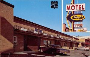 Montreal Canada~Motel Attache~1960s Cars~1969 Postcard