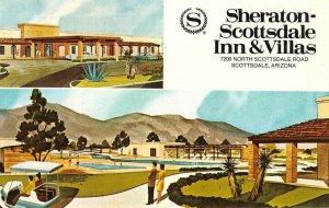 SHERATON-SCOTTSDALE INN & VILLAS Scottsdale, Arizona ca 1960s Vintage Postcard
