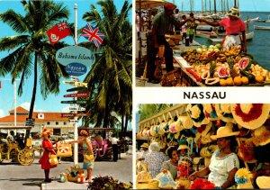 Bahamas Nassau Bay Street Straw Market and Fruit Market