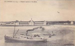 Lighthouse, Ship, Hopital Marin De Pen-Bron, Le Croisic (Loire Atlantique), F...