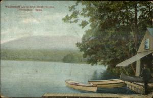 Princeton MA Wachuswett Lake Boat House c1910 Postcard