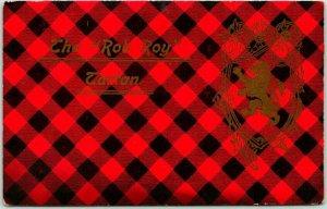 Vintage SCOTLAND UK Postcard Scottish The Rob Roy Tartan Coat of Arms - UNUSED
