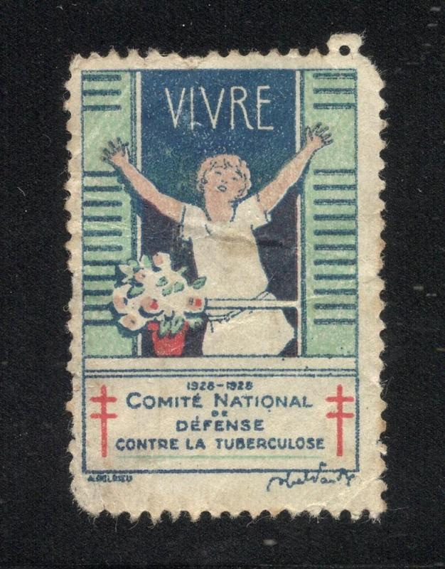 1928 French Tuberculosis Label