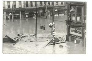 Hamilton OH Street View Ohio Flood RPPC Real Photo Postcard