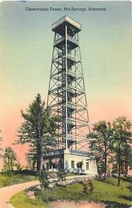 Observation Tower, Hot Springs, Arkansas AR Linen