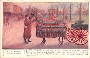 Horse Blanket Advertising Old Vintage Antique Post Card Fashion Square Blanke...