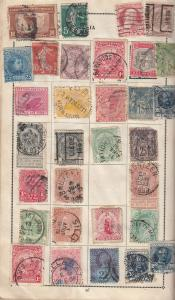 India & World Antique incl Victorian Bundle 100+ Stamp Collection Page s