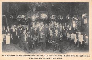 Paris France~Le Grand Vatel~Restaurant Interior~Garibaldi Orchestra~Tea~c1907
