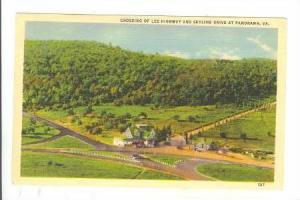 Crossing of Lee Highway and Skyline Drive at Panorama, Virginia, 30-40s