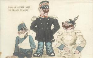 WW1 Military satire caricatures Kaiser DOPO LA GUERRA SARO PIU GRANDE DI LORO