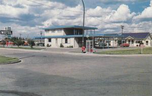 Exterior,  Blue Jay Motel,  Red Deer,  Alberta,  Canada,  40-60s
