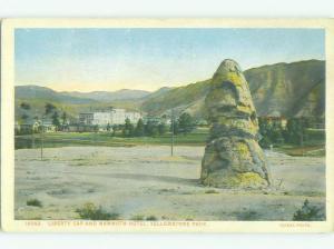 Unused W-Border MAMMOTH HOTEL Yellowstone National Park Wyoming WY hr8841