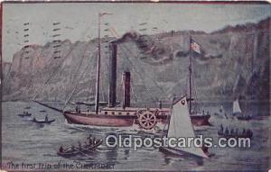 First Trip of the Clermont  Ship Postcard Post Card Postcard Post Card First ...