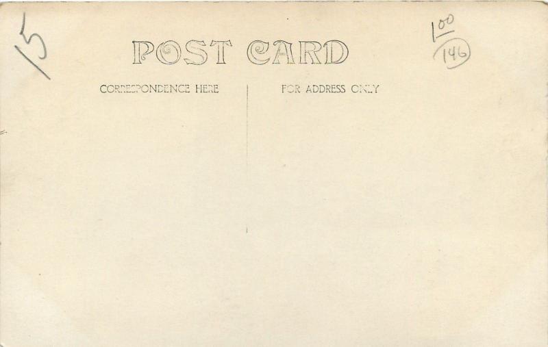 Vintage Real Photo Postcard~Woman in Lace Apron Portrait~1915 RPPC