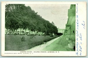 Auburn New York~State Penitentiary~North Court of Prison~Cells on Right~1907 PC