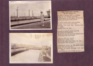 (3) Photos of Panama Canal and Gatun Locks 1934,