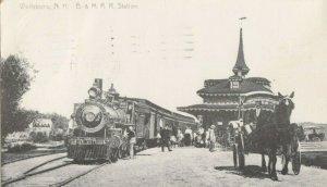 WOLFEBORO , New Hampshire, 1981 ; Train at railroad Station