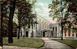New York Syracuse First Presbyterian Church 1909