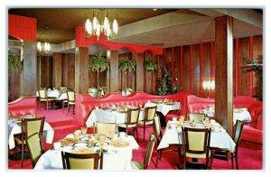 BOISE, Idaho ID ~ Terrace Dining Room THE DOWNTOWNER c1960s Roadside Postcard