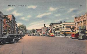 Main Street, Orange, New Jersey, Early Postcard, Unused