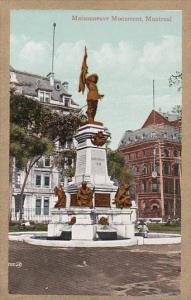 Canada Montreal Maisonneuve Monument