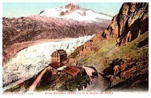 Switzerland  Glacier du Rhone , Hotel Belevedre