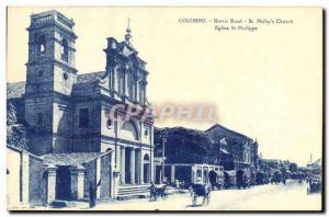 Postcard Old Norris Road Colombo Sri Lanka St Philips Church