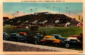 Virginia Norfolk Foreman Field Crowd Watching a Football Game