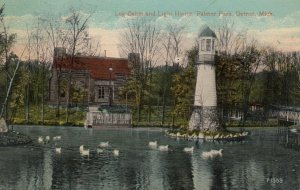 DETROIT, Michigan, 1900-10s: Palmer Park, Log Cabin and Lighthouse