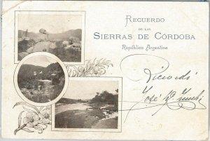 ARGENTINA -  Vintage Postcard - GRUSS AUS : SIERRAS DE CORDOBA