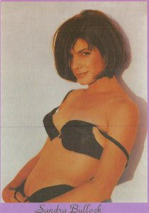 Postcard, SANDRA BULLOCK Underwear Sexy Portrait by Box Office 64V