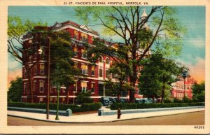 Virginia Norfolk St Vincents De Paul Hospital 1944