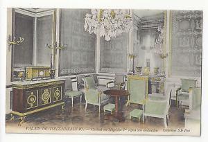 France Palais Fontainebleau Napoleon I Desk Cabinet Abdication Vtg Postcard