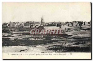 Old Postcard Saint Malo General view taken from Grand Bey to the Remparts