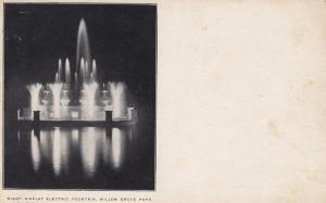 Night Display Electric Fountain, WILLOW GROVE PARK , Pennsylvania , 01-07