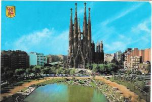 Barcelona, Spain Expiatory Temple of the Holy Family.