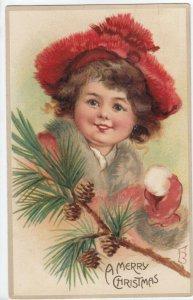 BRUNDAGE (FB) ; Child in Red Cap , CHRISTMAS , PU-1912 ; TUCK #4