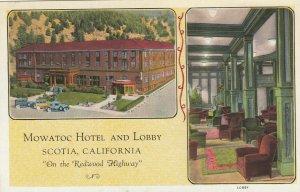 SCOTIA, California , 1900-10s ; Mowatoc Hotel & Lobby